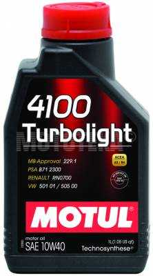 Масло моторное MOTUL (Мотюль) Turbolight, SAE 10W40 (1л)